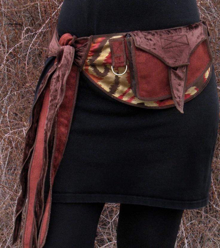 Autumn colors - Festival Pocket Belt - Utility belt - Burlesque Inspired. $158.00, via Etsy.