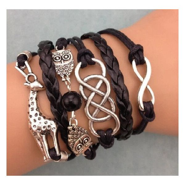 wax cord bracelets,men bracelet,black bracelet,leather wrap... (17 PEN) ❤ liked on Polyvore featuring men's fashion, men's jewelry, men's bracelets, bracelets, mens handmade jewelry, men's wrap bracelet, mens cord bracelets, mens watches jewelry and mens leather braided bracelets