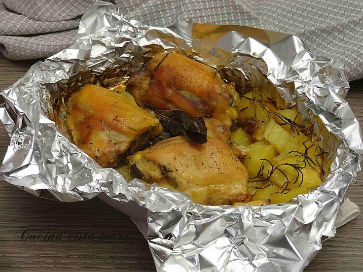 Pollo+con+patate+al+cartoccio