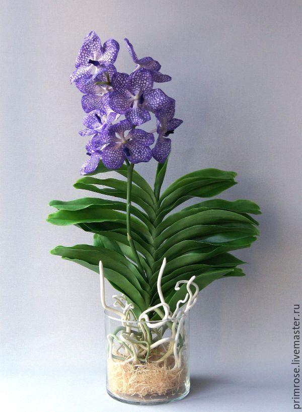 ВАНДА ВЕЛИКОЛЕПНАЯ Композиция в вазе (флористическая полимерная глина) сделаю на заказ #цветыизглины #полимернаяглина #декор #длядома #холодныйфарфор #polymerclay #handmade