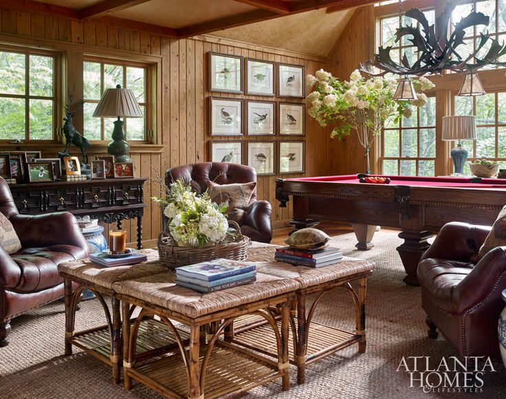 James Farmer, Inc. // Game Room At The 2015 Cashiers Designer Showhouse