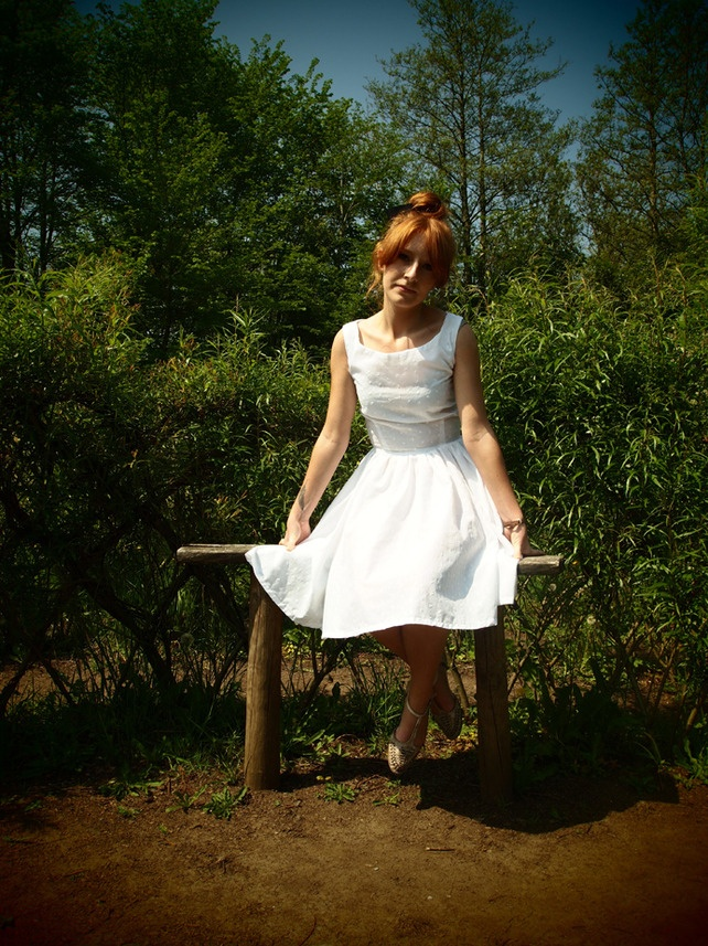 50's style white dress £50.00: 50 Style, 50S