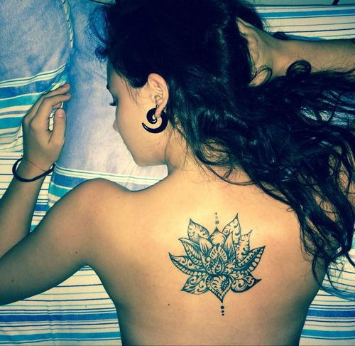 43 Attractive Lotus Flower Tattoo Designs. Love placement.
