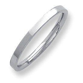 Palladium Flat Comfort Fit 2.00mm Band Ring - Size 7.5 - JewelryWeb JewelryWeb. $201.70