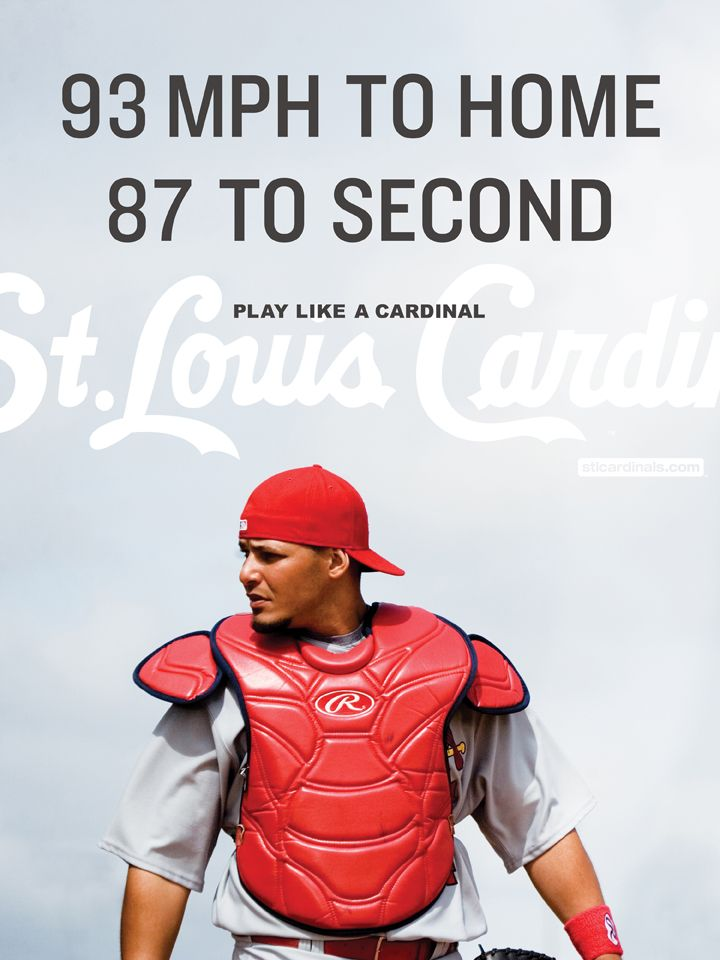 Loves that the very first thing that pops up on the sports section is play like a cardinal! Gotta love yadi!!