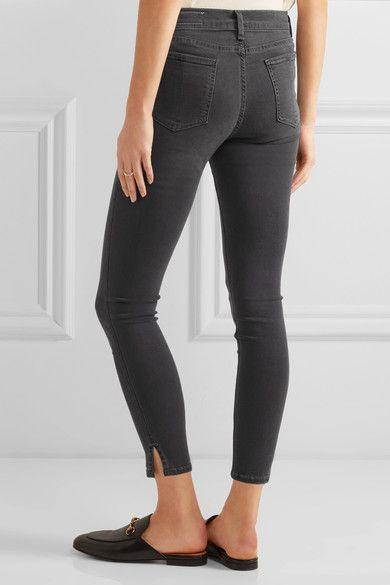 rag & bone - The Capri Cropped High-rise Skinny Jeans - Gray - 30