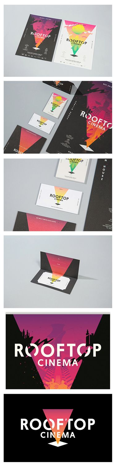 Rooftop Cinema Branding (by SouthSouthWest)