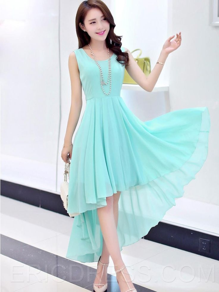 Ericdress Solid Color Swallowtail Casual Dress 2