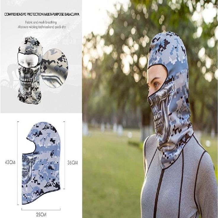 Motorcycle Camo Skull Face Mask Helmet Cover Winter Outdoor Safe Protective Gear #YourChoice