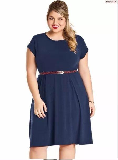 vestido feminino liso plus size roupas grandes tamanhos                                                                                                                                                                                 Mais