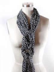 This cool website demonstrates how to tie scarves in many different ways.