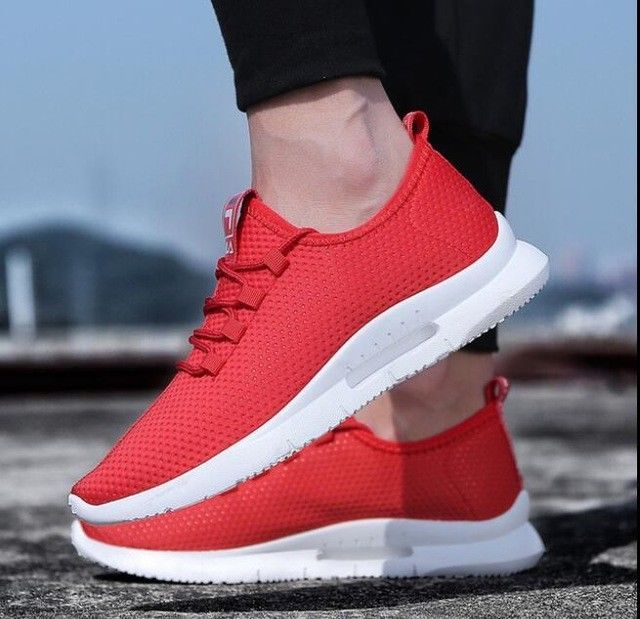 Men Air Huarache Sport Shoes Sneakers Athletic Shoes white red