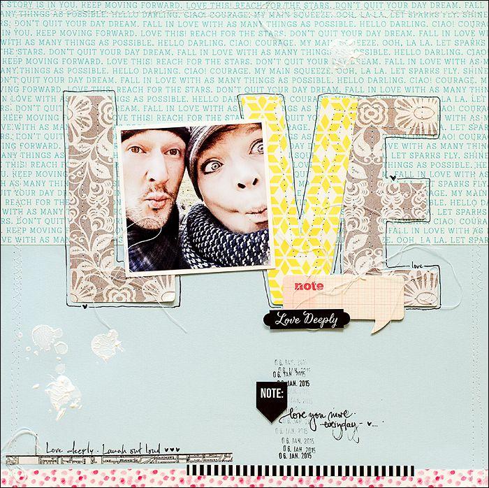 be more creative: L.O.V.E.....{Pizza Pizza... Papierwerkstatt...}