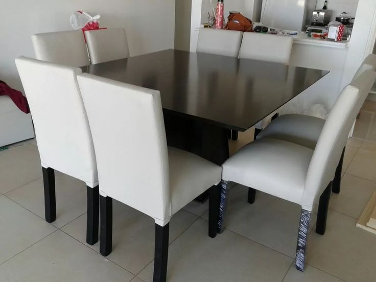 Mesa y sillas comedor wengue negro guatambu juego for Comprar juego de comedor