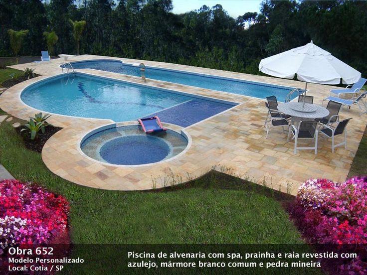 Las 25 mejores ideas sobre piscina de alvenaria en for Piscinas en altura