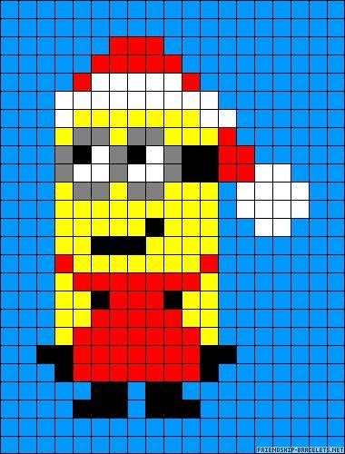 Minion Christmas cross stitch.
