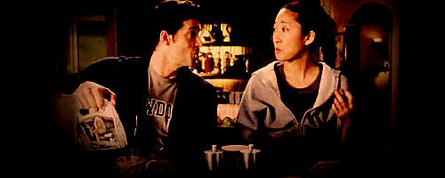 "CRISTINA: Apparently they went backpacking around Europe together or something before med school. I mean, that woman all but kicked me out of the bed.  DEREK: Oh, that's terrible.  CRISTINA: And ""Death""? Meredith's name is not Death—it's Mer.  DEREK: I really feel for ya.  CRISTINA: You know, she's never even mentioned this woman. How good of a friend could she be?  DEREK: Good enough to kick us both out of bed. Welcome to my world."