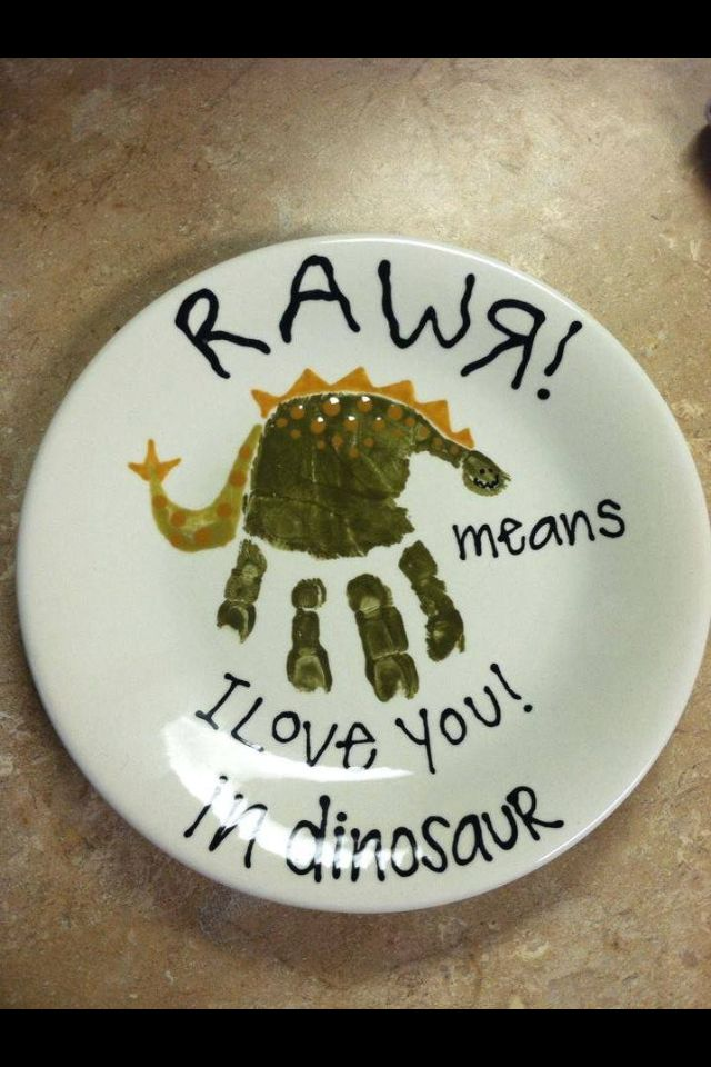 Dinosaur handprint card
