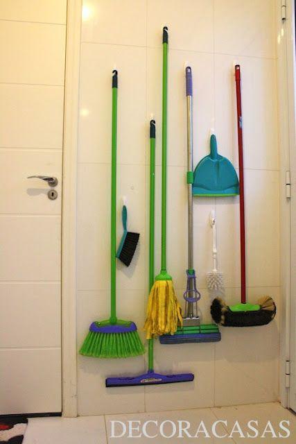 DECORACASA: organização em níveis na lavanderia.