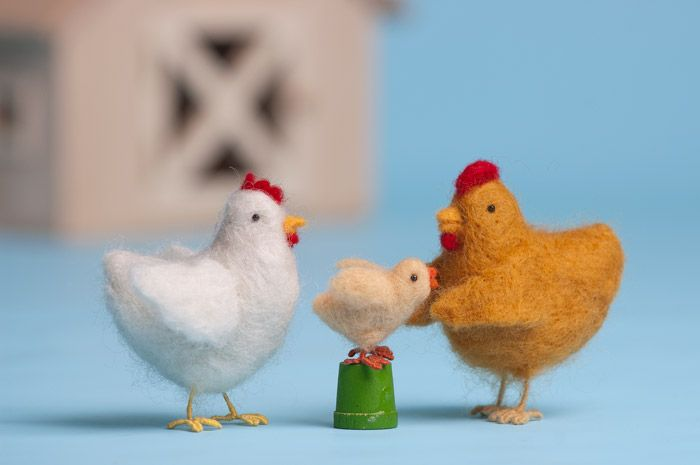 Chicken Little by Laurie Sharp of Woolpets.