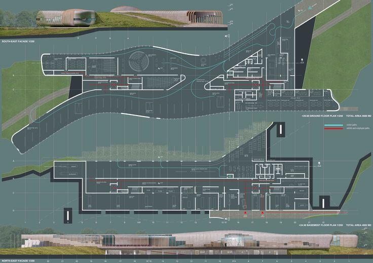 Science Center plan and facade