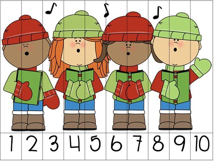 Educación Preescolar: 8 rompecabezas numéricos navideños