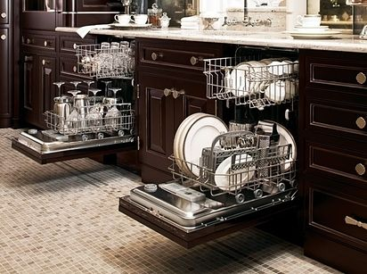 Make space for two dishwashers instead of one. You can load one while the other washes. KitchenAid also makes a double drawer dishwasher.