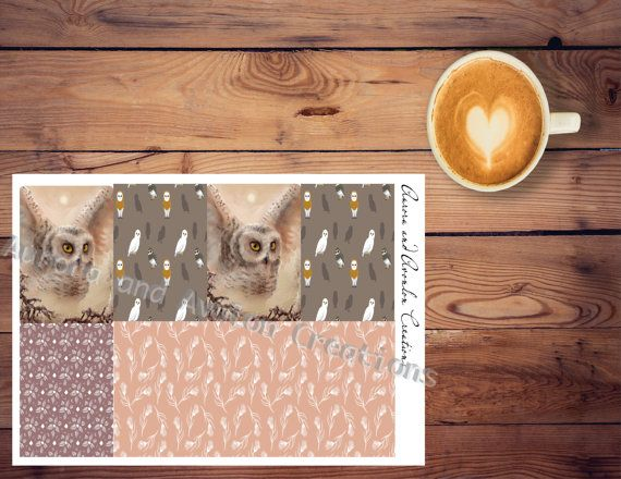 Snowy Owl weekly kit for Happy Planner or Erin Condren..The Avalon Winter Line