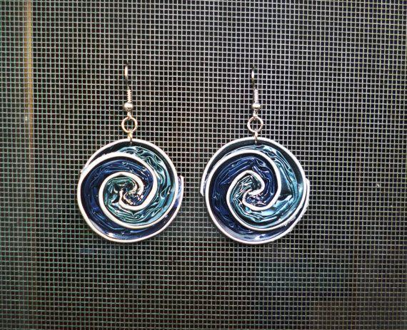 orecchini a spirale realizzate con cialde nespresso