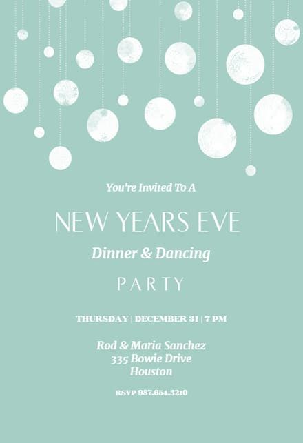 The 72 best New Year\u0027s Eve Invitations Template images on Pinterest - new years invitations templates