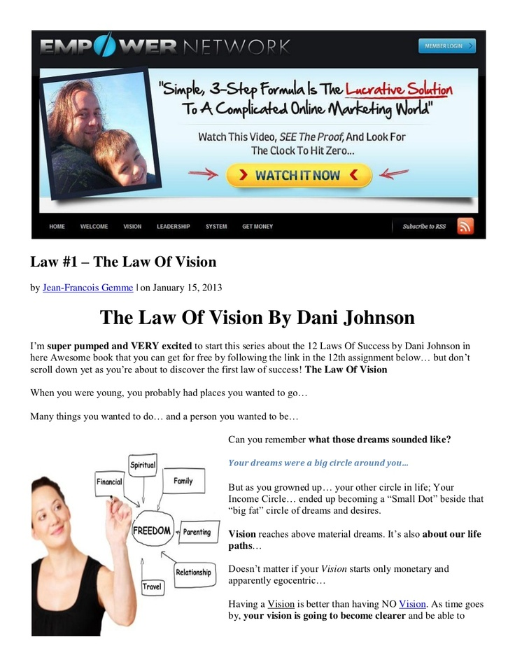 the-law-of-vision-by-dani-johnson by Jean-Francois Gemme via Slideshare