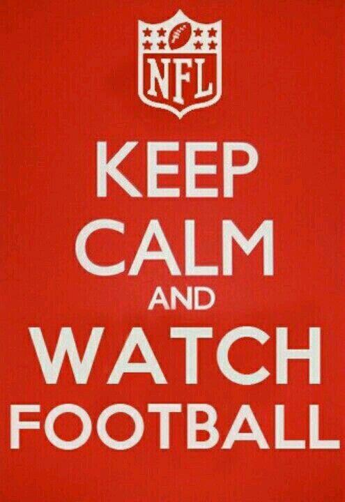 Mantén la calma y mira el football