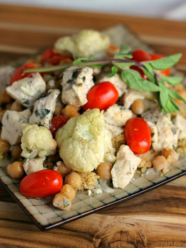 Chicken Chickpea Baked Stir Fry - wearychef.com #healthy #dinner