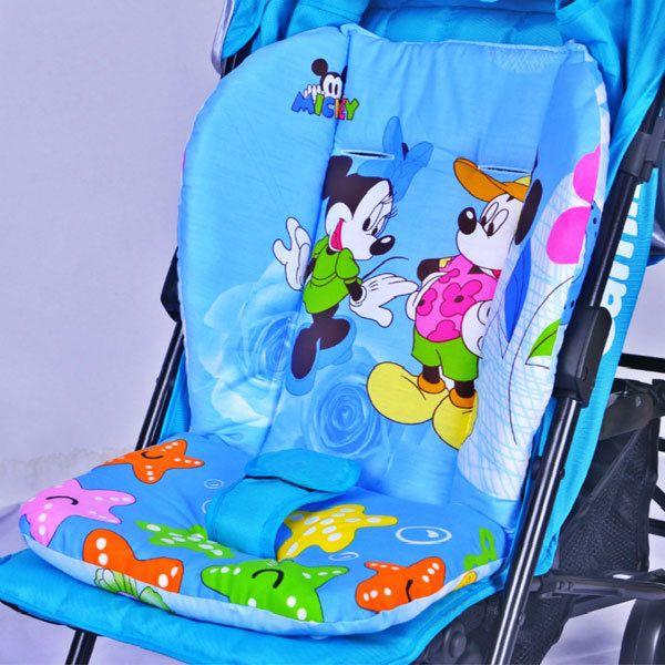 100% כותנה בייבי עגלת mat מושב מכונית כרית מושב מיקי מיני עבור עגלת יילוד כרית כיסא חורף עגלת אבזרים