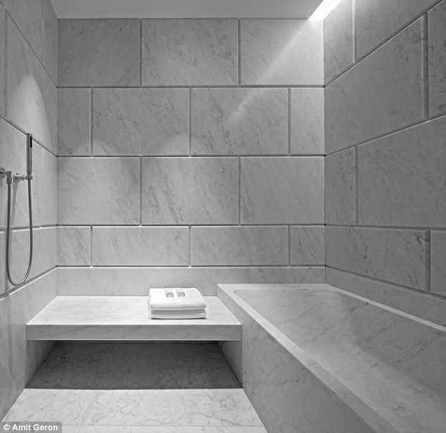 All change: The designers have veered away from the usual look of a five-star hotel bathroom