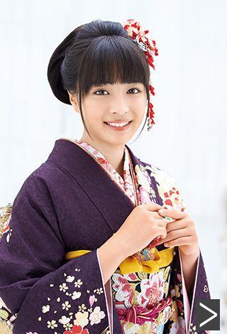 Japanese woman in kimono fashion