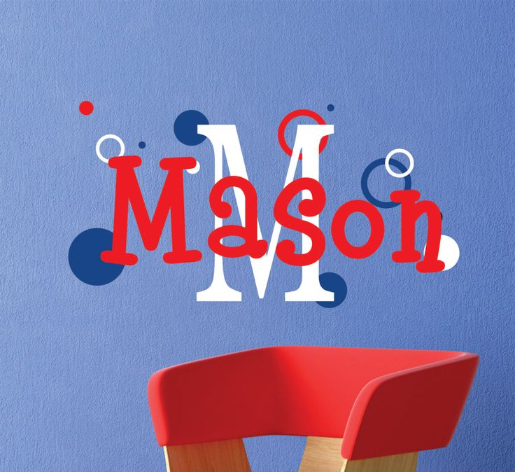 Best Baby Names  Images On Pinterest - Monogram wall decals for nursery