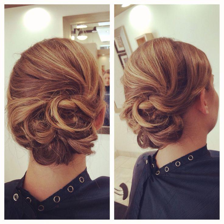 Lauren Lindner from studio 9 salon. updo for a bridesmaid. A little bit asymmetrical