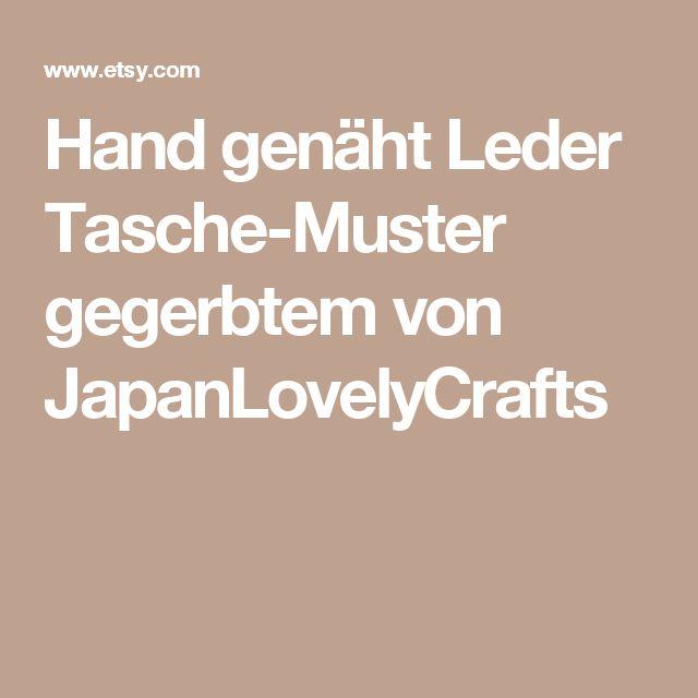Hand genäht Leder Tasche-Muster gegerbtem von JapanLovelyCrafts