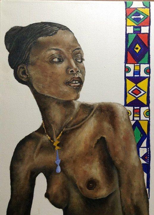 Celebrating Africa. Oil on canvas 60 x 40cm.