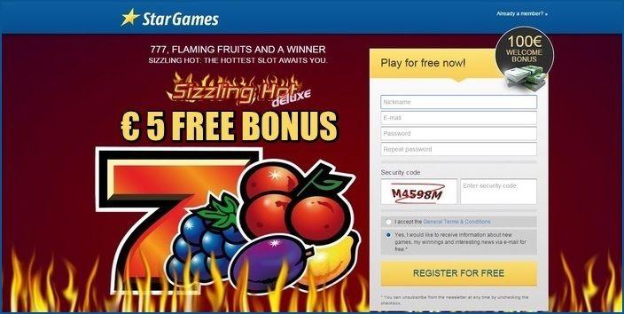 stargames free bonus