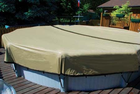 The ULTIMATE Winter Pool Cover Self-Draining Winter Pool Cover for Above Ground Pools