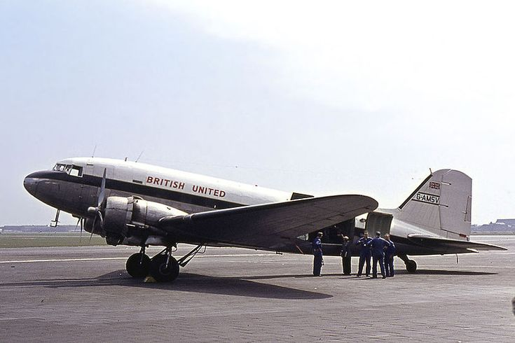 British United Airways Douglas C-47B Dakota 4 (DC-3) G-AMSV at Berlin Tempelhof International Airport Date18 April 1964 Photo by Ralf Manteufel