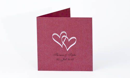 Fakten über hochzeitskarten / taufkarten, Ltd Edition Feeling Red