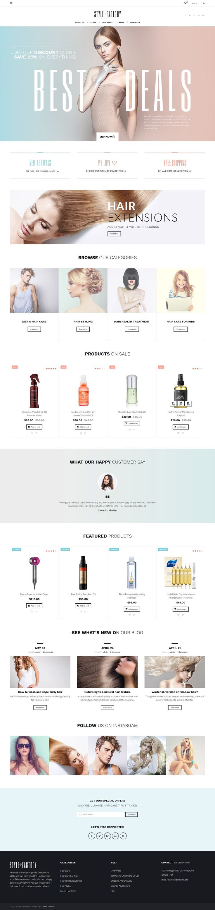 Style Factory - Hair Care & Hair Styling WooCommerce Theme - https://www.templatemonster.com/woocommerce-themes/61305.html. If you like UX, design, or design thinking, check out theuxblog.com