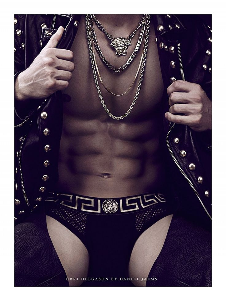 Orri Helgason is Clad in Versace for Daniel Jaems Obsession Series