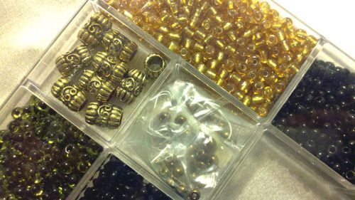 Love beading or jewelry making? RARE TREASURE BEADS BOX ECLECTIC COLLECTION BEADERY ARTS CRAFTS ABALONE BLACK PLASTIC GOLD METAL CHILDREN KIDS PROJECTS - on eBay! $9.98