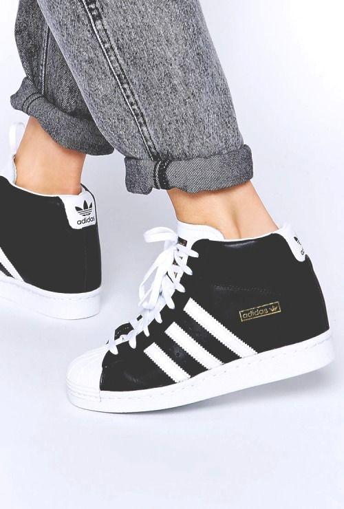 Adidas Superstar Slip On Originals Womens floral shoes Black