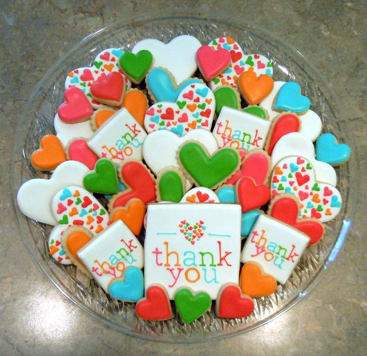 Bake up a platter of thank you cookies to deliver to a neighbor or friend.