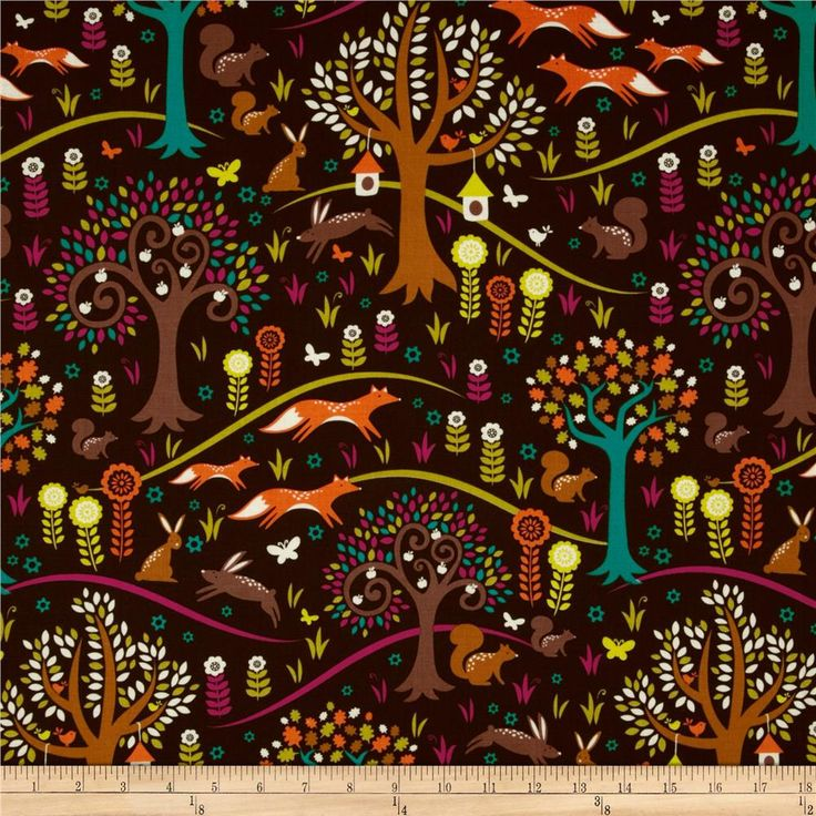 From Michael Miller Fabrics, this cotton fabric is perfect for quilting, apparel and home decor accents. Colors include orange, teal, purple, green, brown and cream.